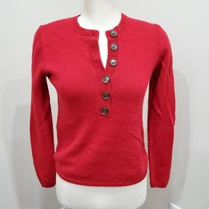 The Limited Red Knit Wool Sweater Size M